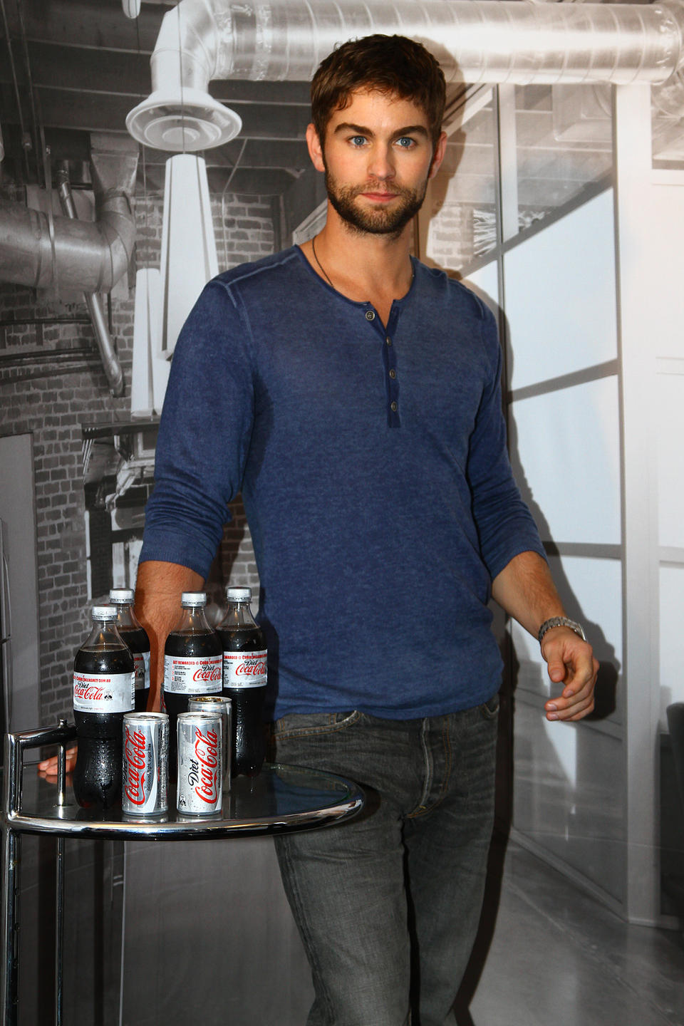 Chace Crawford Greets Fans At A Diet Coke Promo