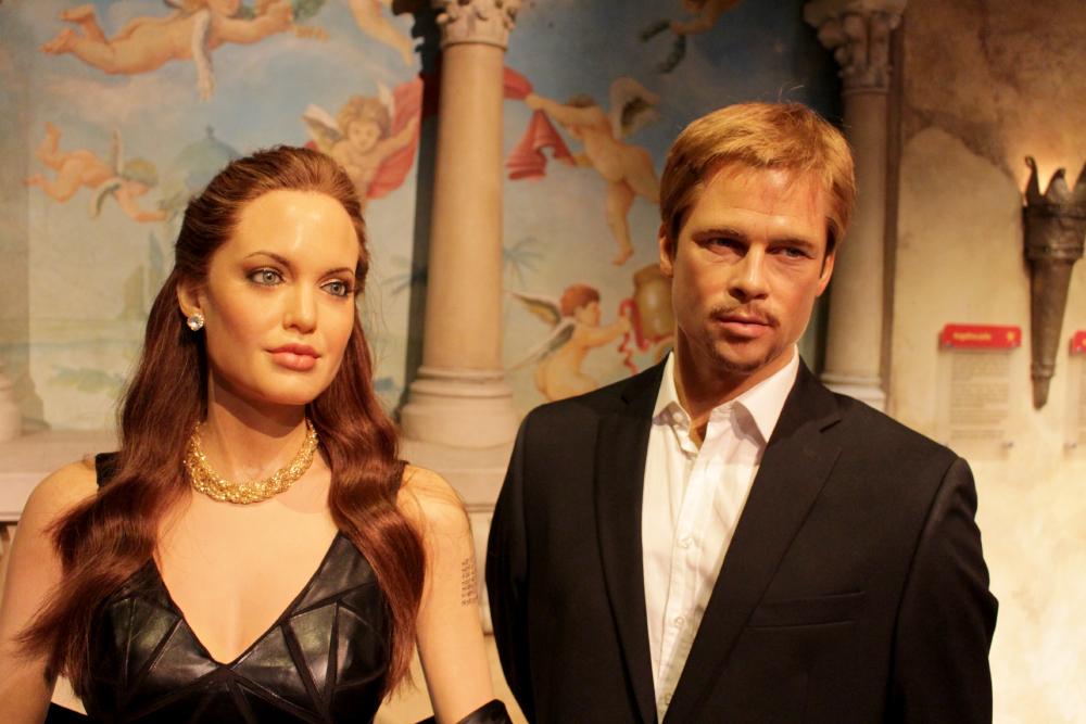 Brad e Angelina Madame Tussauds NY