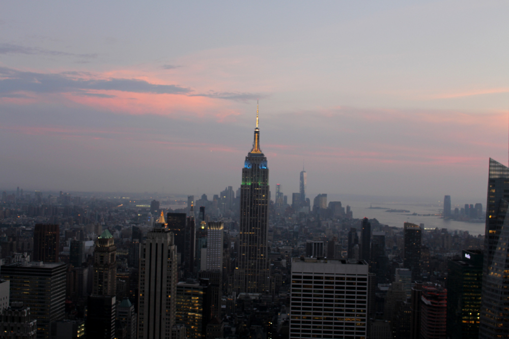 empire state entardecer top of the rock