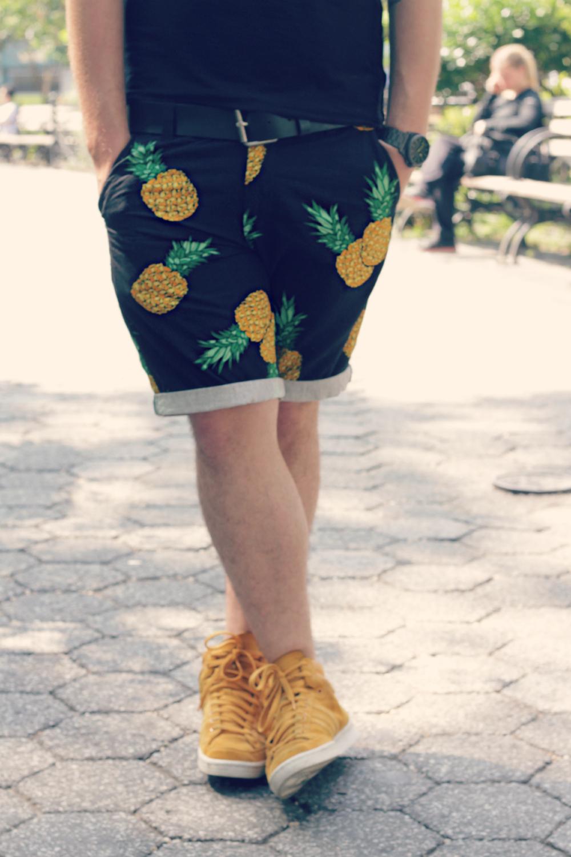 estampa de fruta abacaxi homem masculino