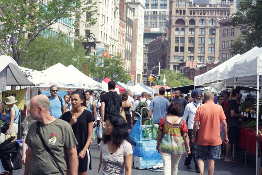 feira de alimentos organicos em NY union square