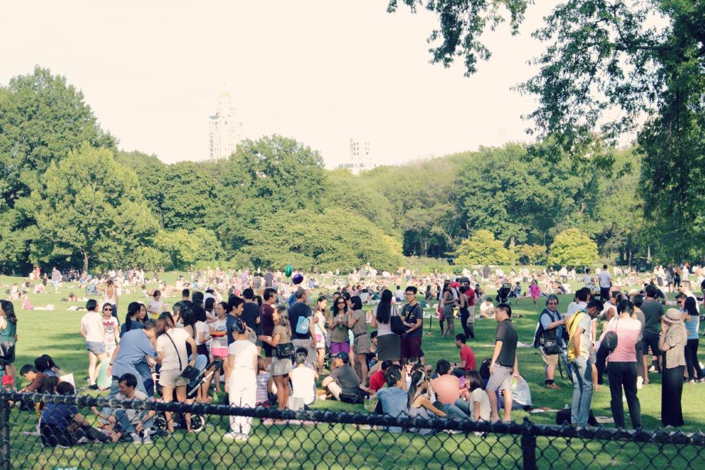 central park gramado lotado