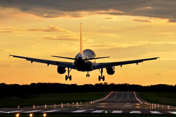 Avião-decolando