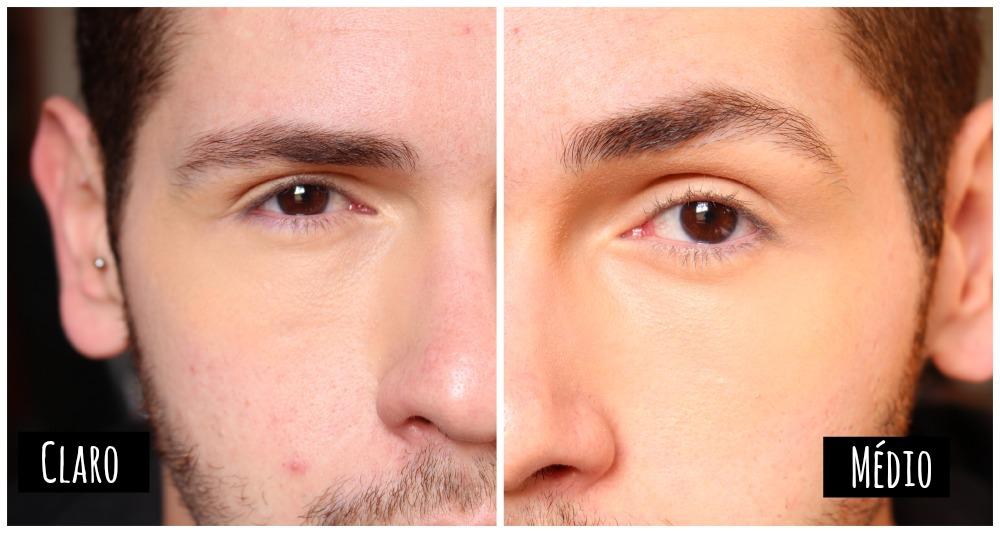 comparando cores medio e claro bb cream olhos loreal