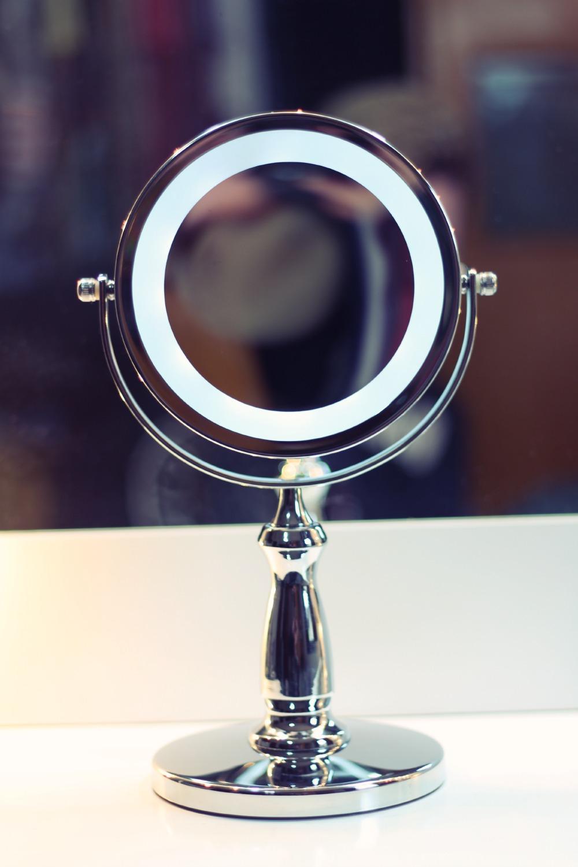 espelho aumento 5 x com luz makeup terapia store