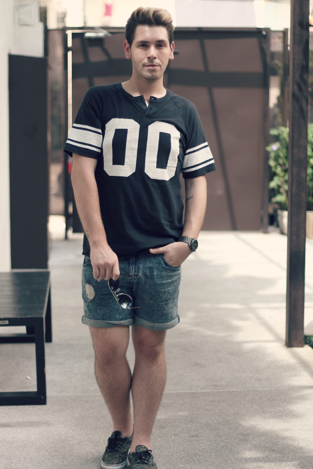 look camiseta college masculina