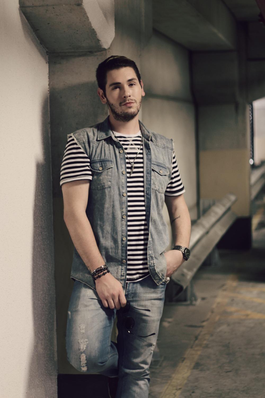 look jeans com listrado luh