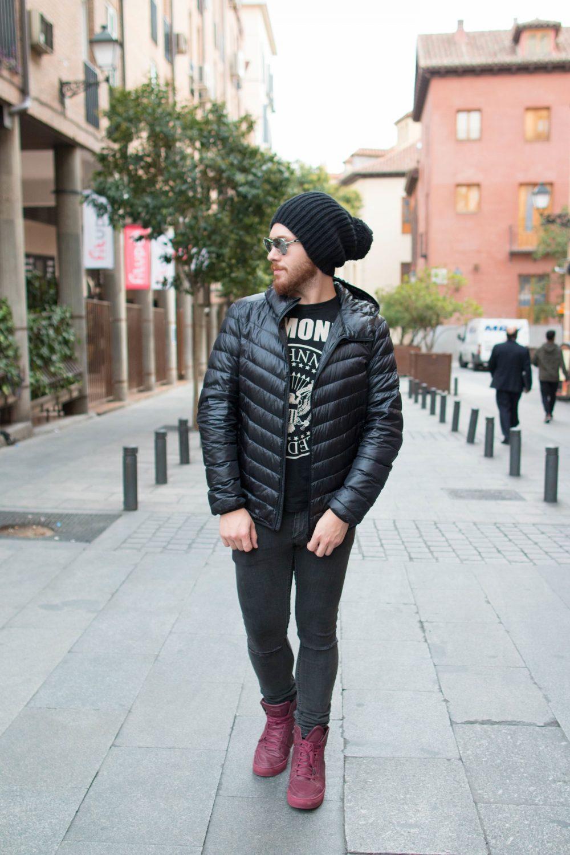 Look Do Dia Masculino Frio Europa O que usar Casaco Termico Uniqlo-10