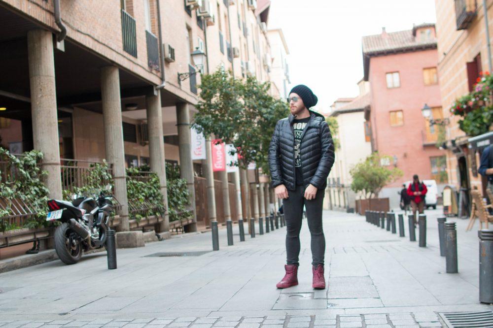 Look Do Dia Masculino Frio Europa O que usar Casaco Termico Uniqlo-3