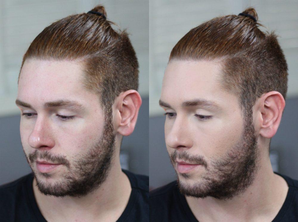 antes e depois maquiagem masculina