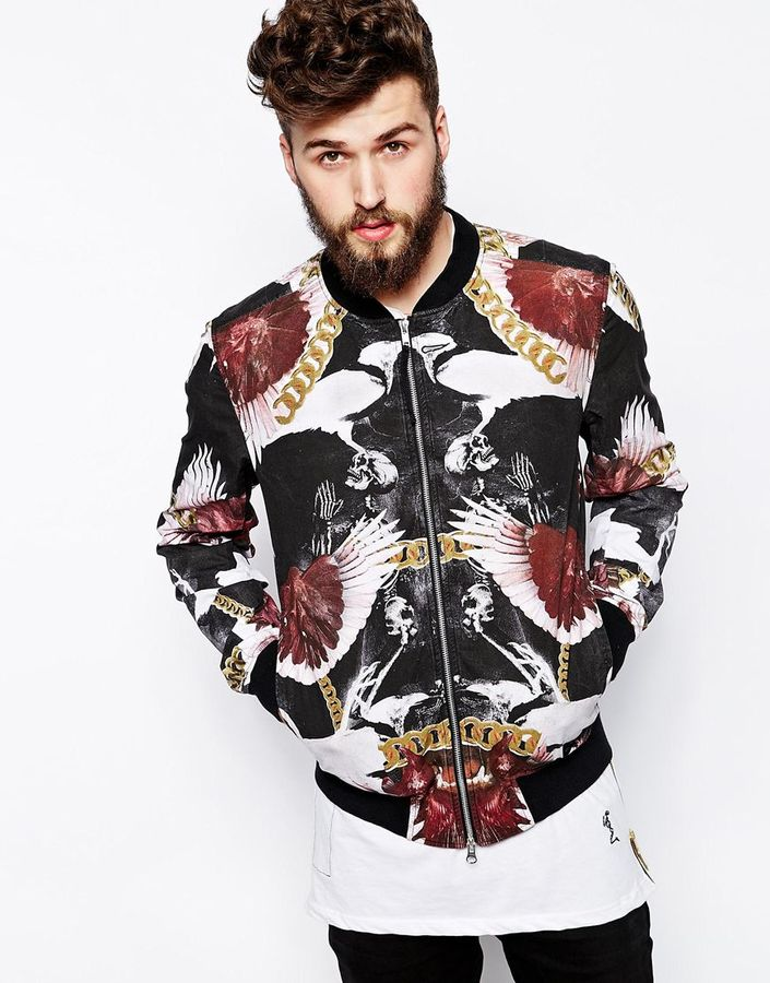 religion-bomber-jacket-in-chain-print-black-original-41950