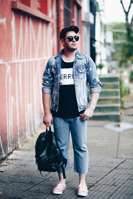 jaqueta-jeans-masculina-customizada-tinta-respingada-spfw-look-masculino-levis-davi-morilla-luh-sicchierolli-rodolfo-corradin-look-do-dia-jeans-2