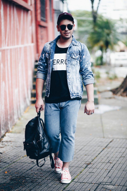 jaqueta-jeans-masculina-customizada-tinta-respingada-spfw-look-masculino-levis-davi-morilla-luh-sicchierolli-rodolfo-corradin-look-do-dia-jeans-3